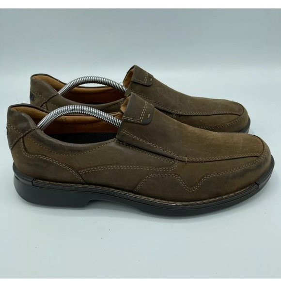 Men's ECCO Leather Casual Slip On Comfort Loafer.